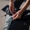 metalic buckles backpack