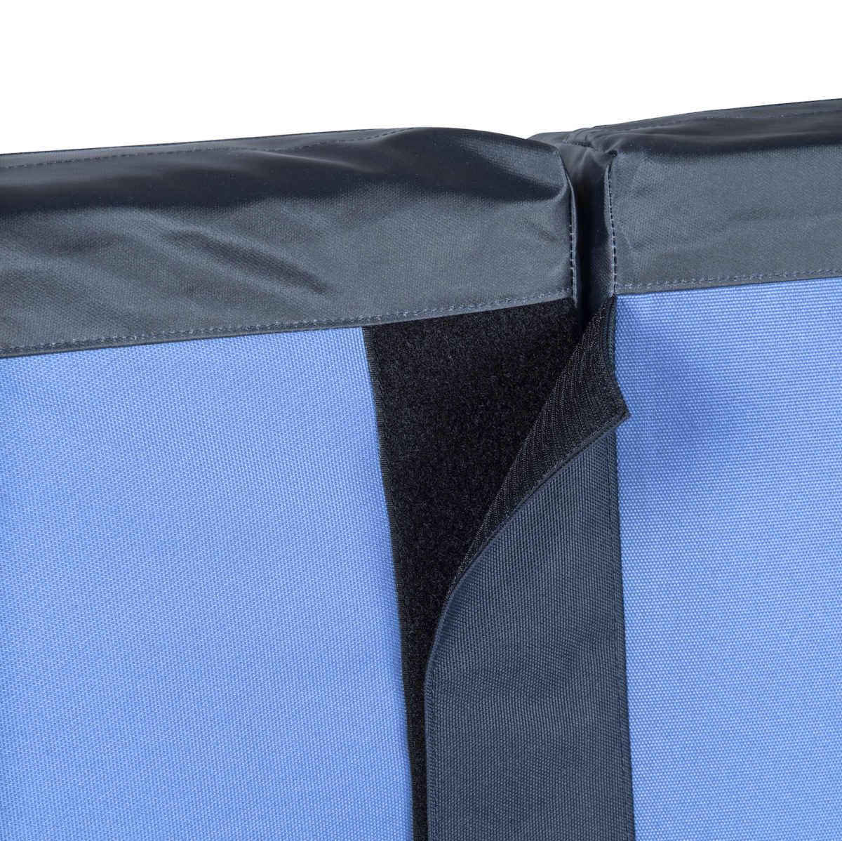 double crash pad with velcro snap