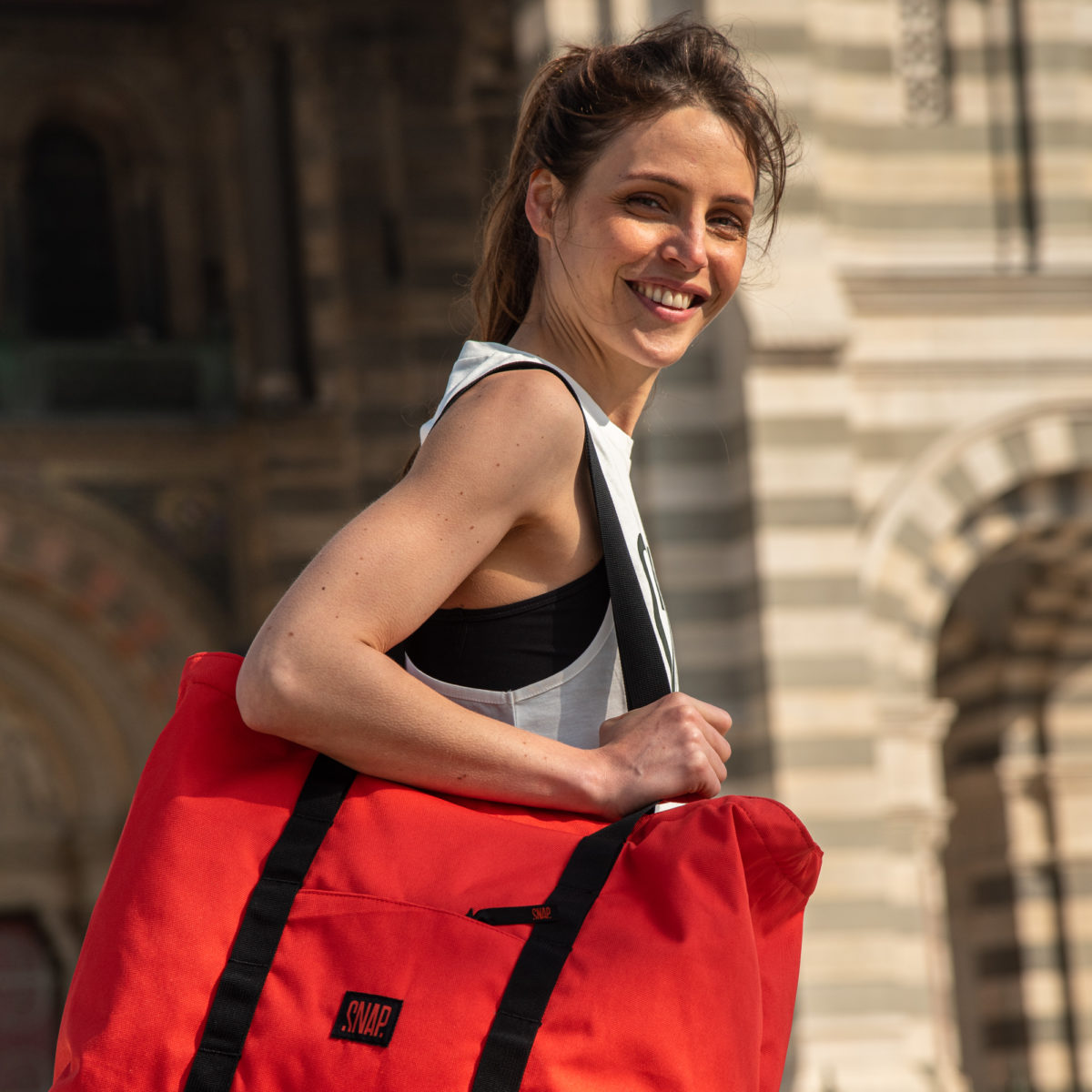 large sports bag recycled polyester