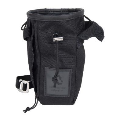 chalk bag black color with scratch snap