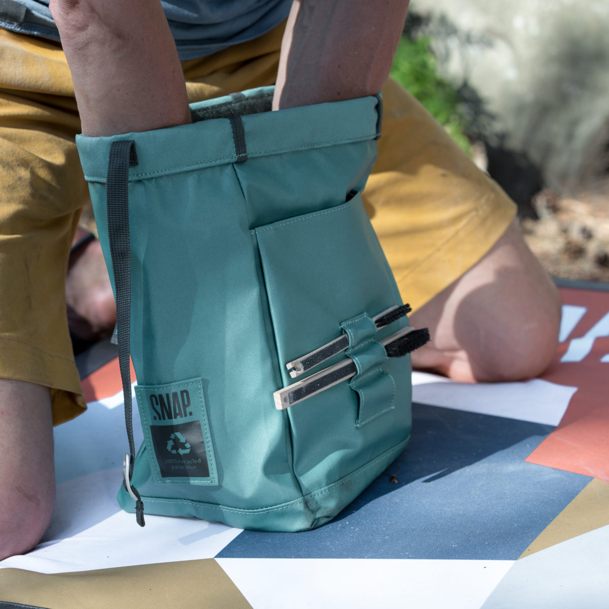 big chalk bag for bouldering
