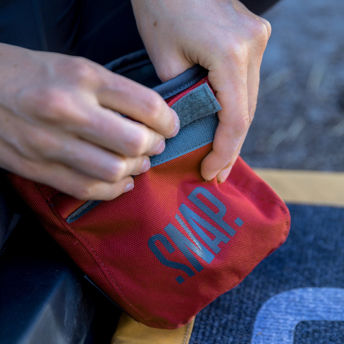 chalk bag red