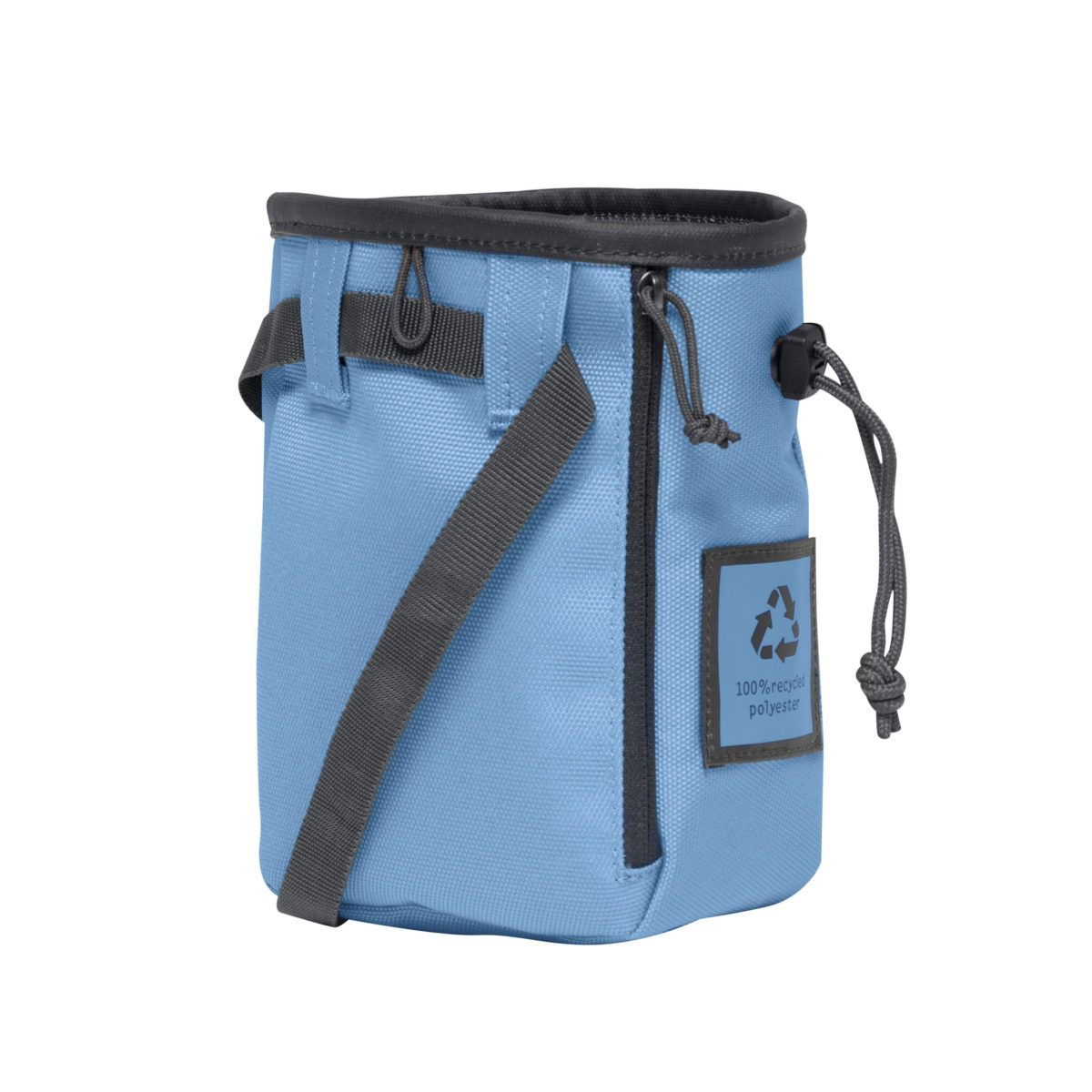 blue chalk bag for climbers and boulderers