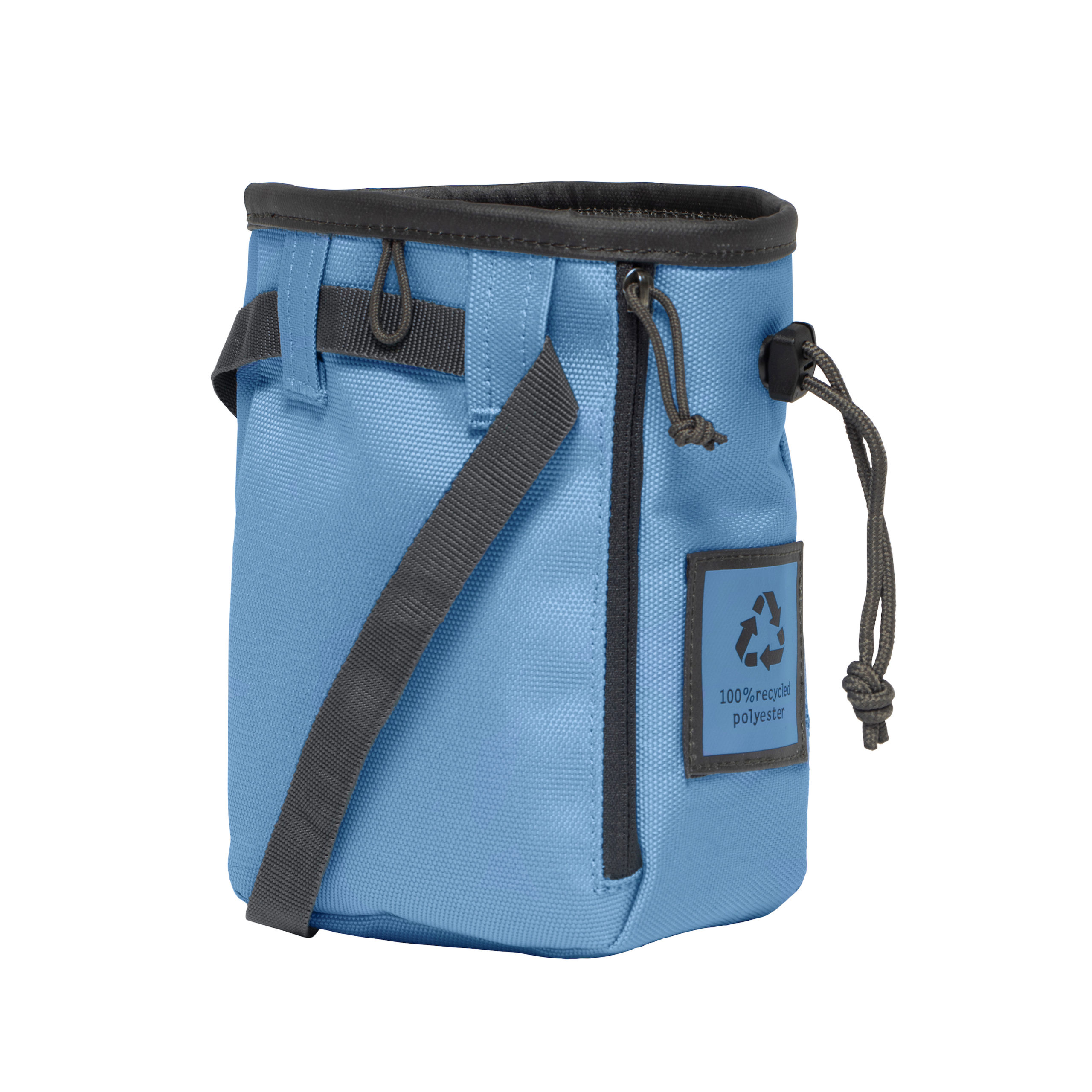 steel blue individual chalk bag