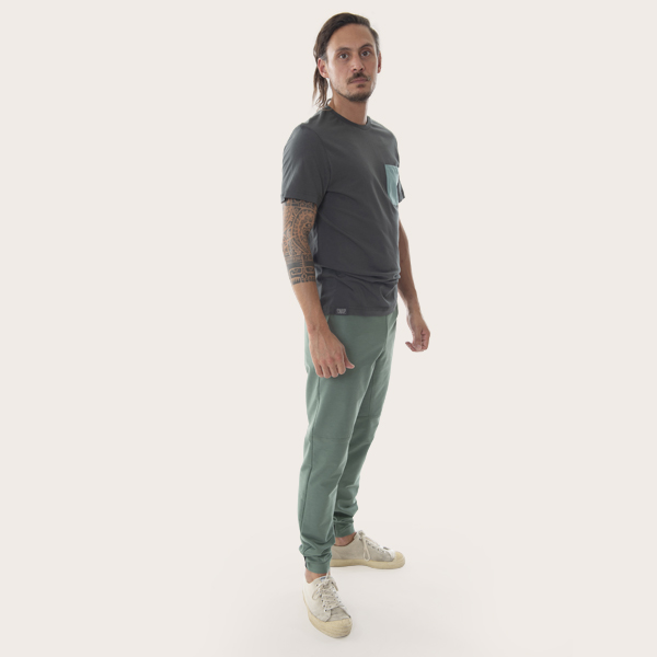 organic cotton t-shirt for man profile view