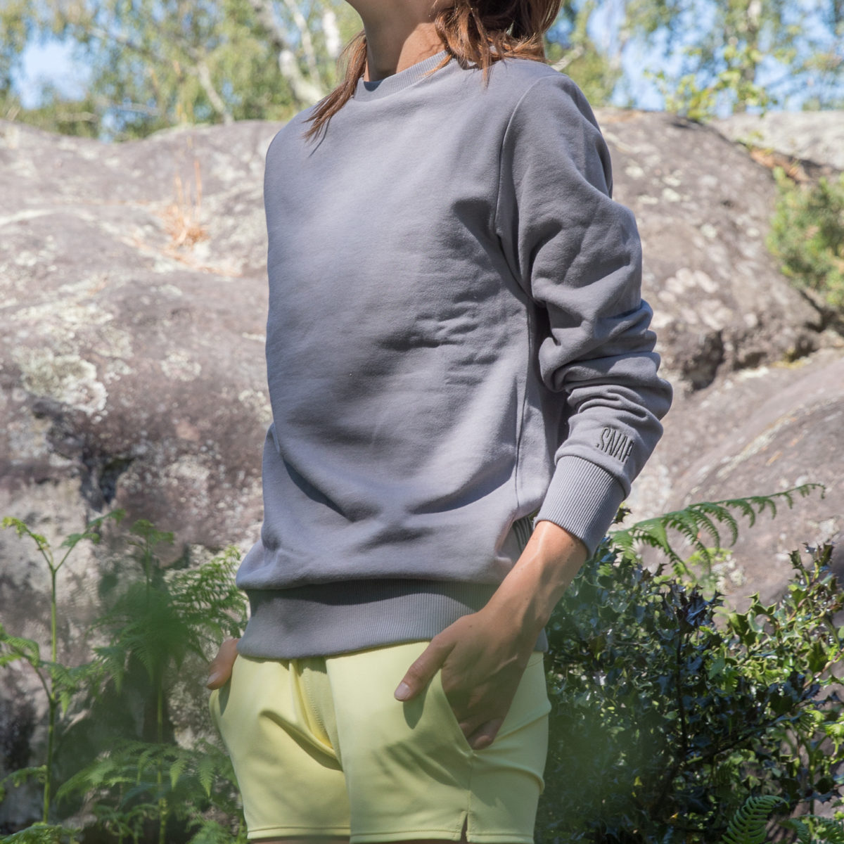 organic cotton grey sweater