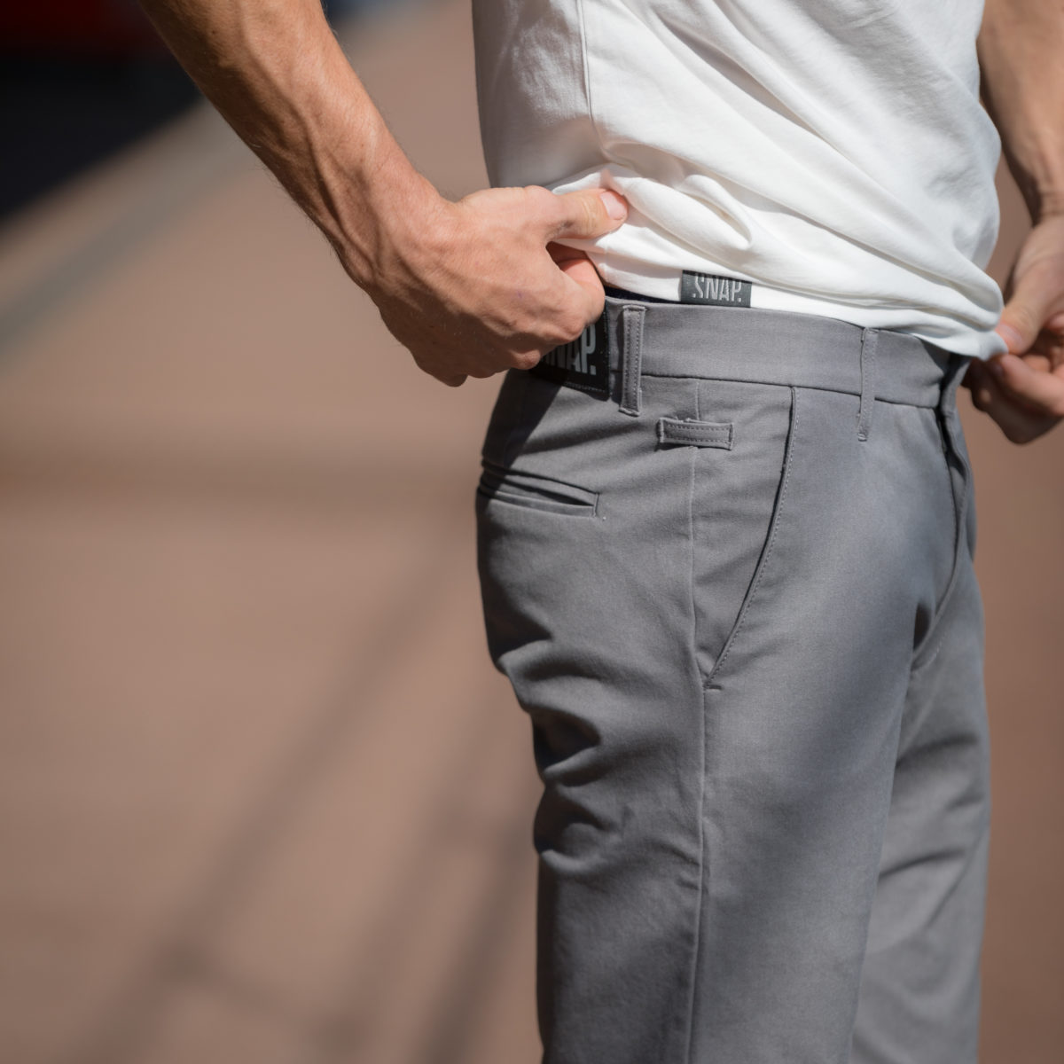 grey shorts chino style for man