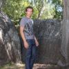 climbing pattern t-shirt