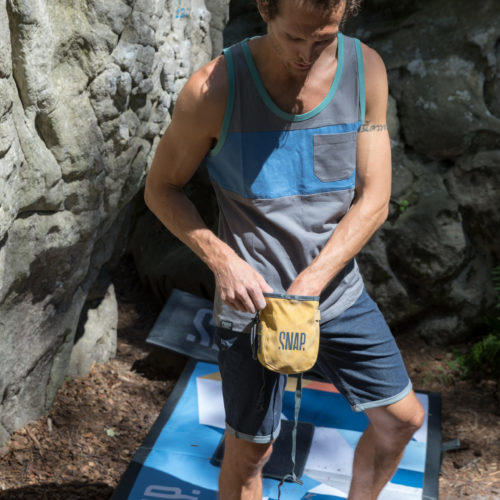 two colored pocket tank top for man