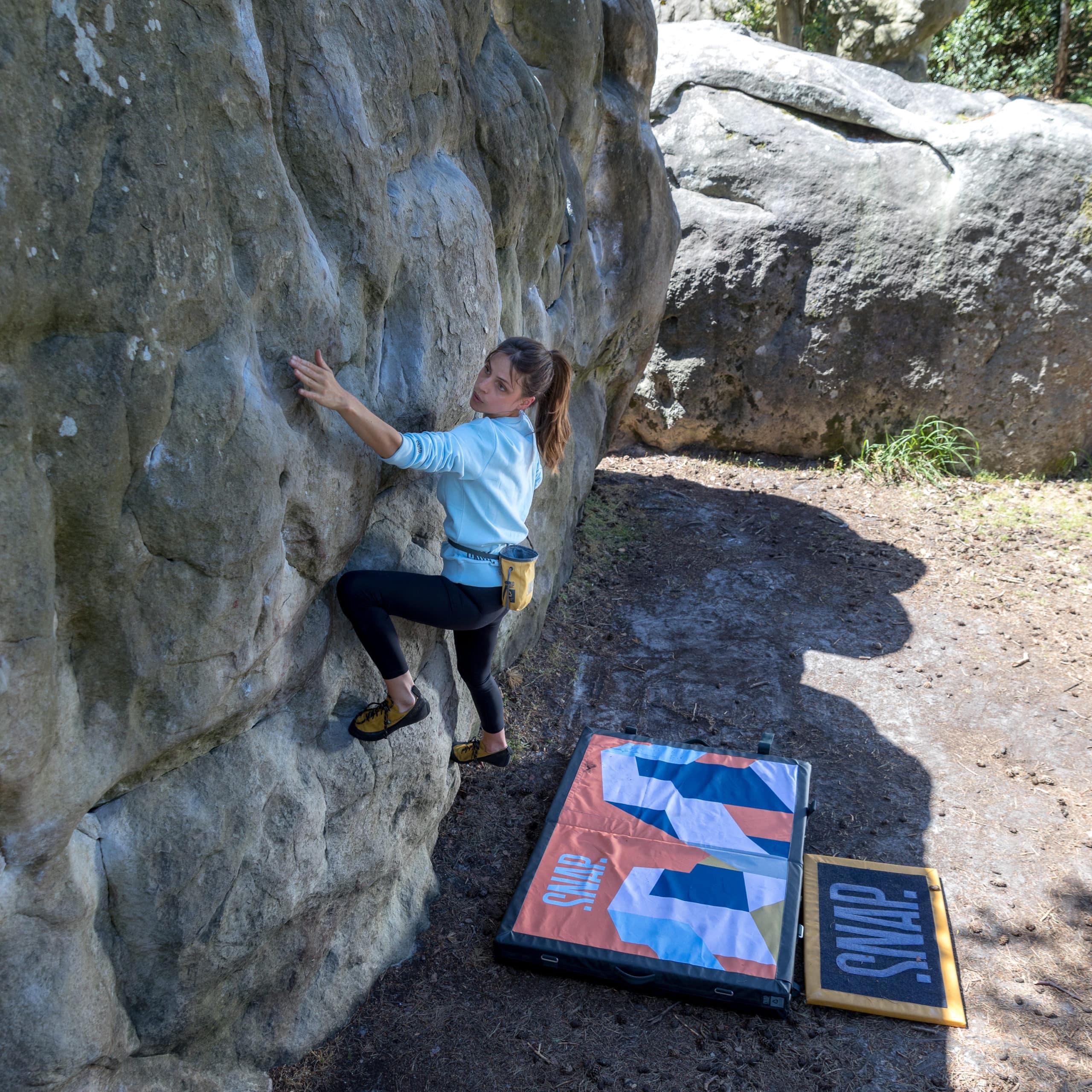 climber girl with black leggings