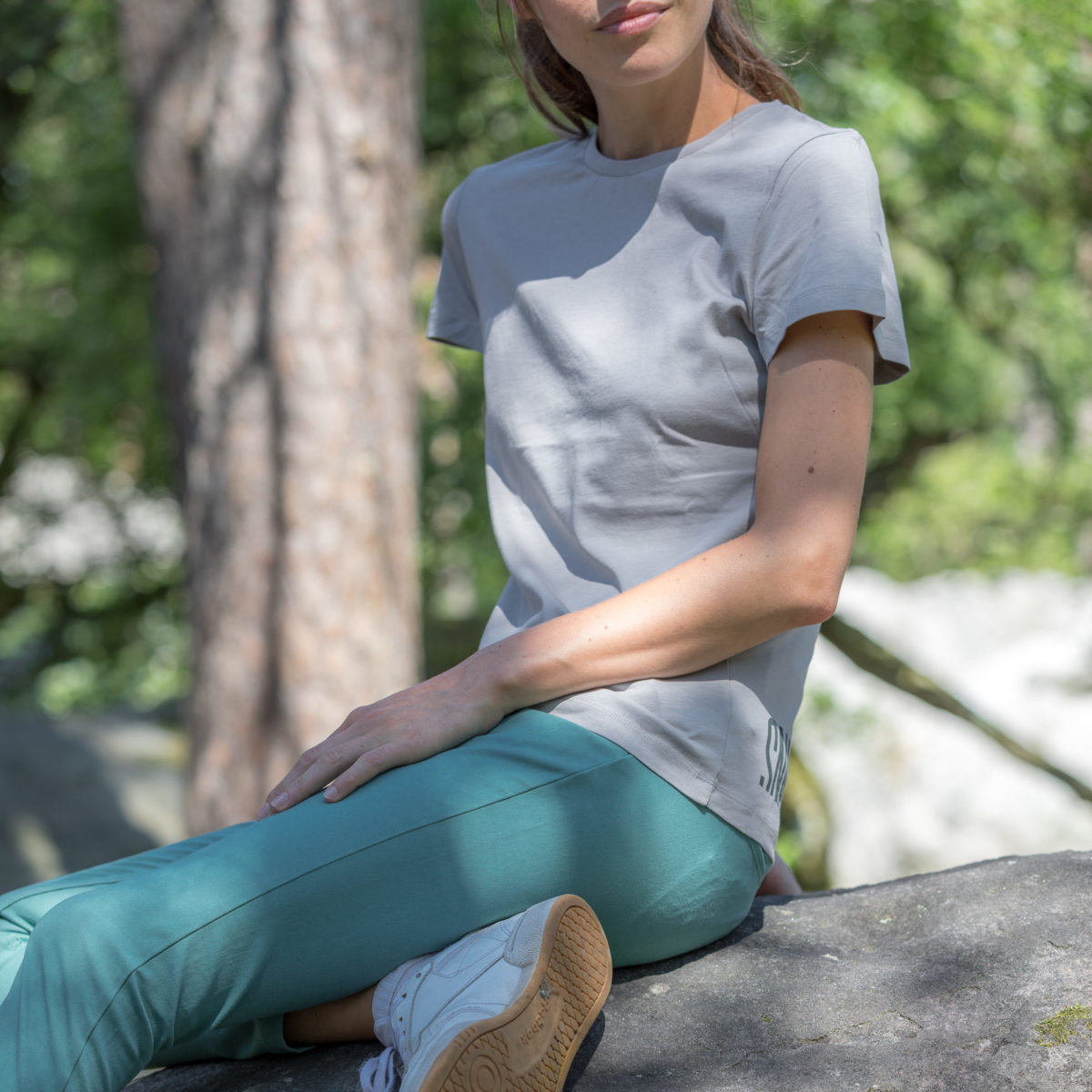 grey eco-friendly T-shirt for woman