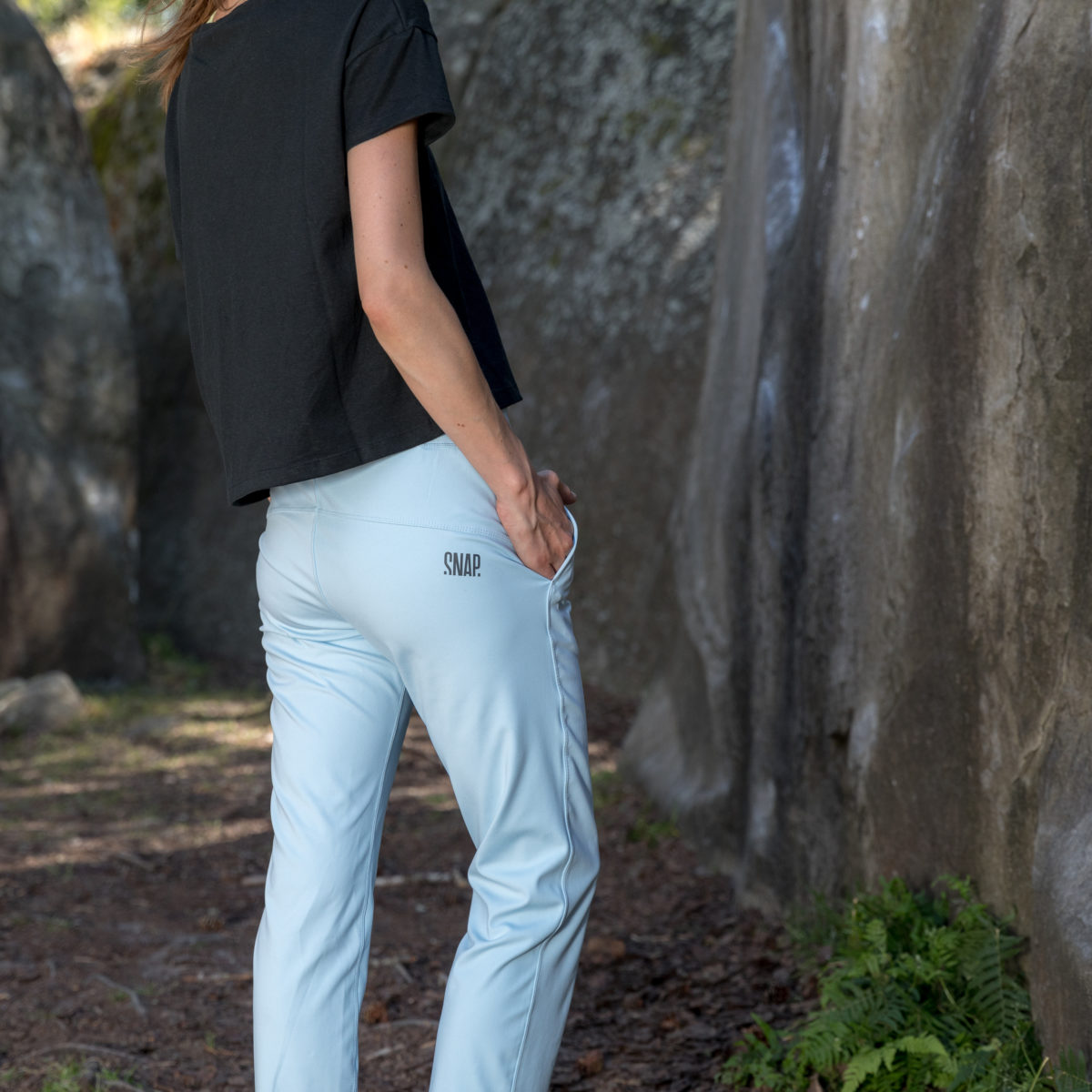 light blue jogging in recycled materials