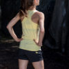 yellow sports tank top for woman back side