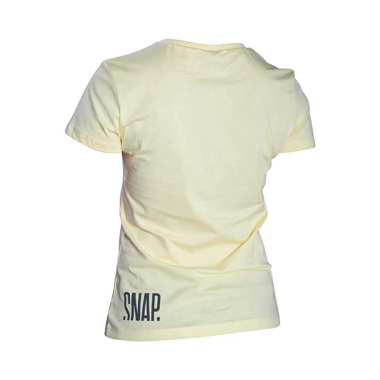 yellow t-shirt back in organic cotton