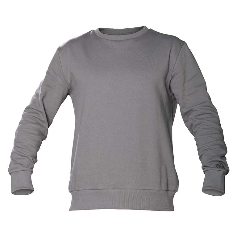 classic sweater grey color organic cotton