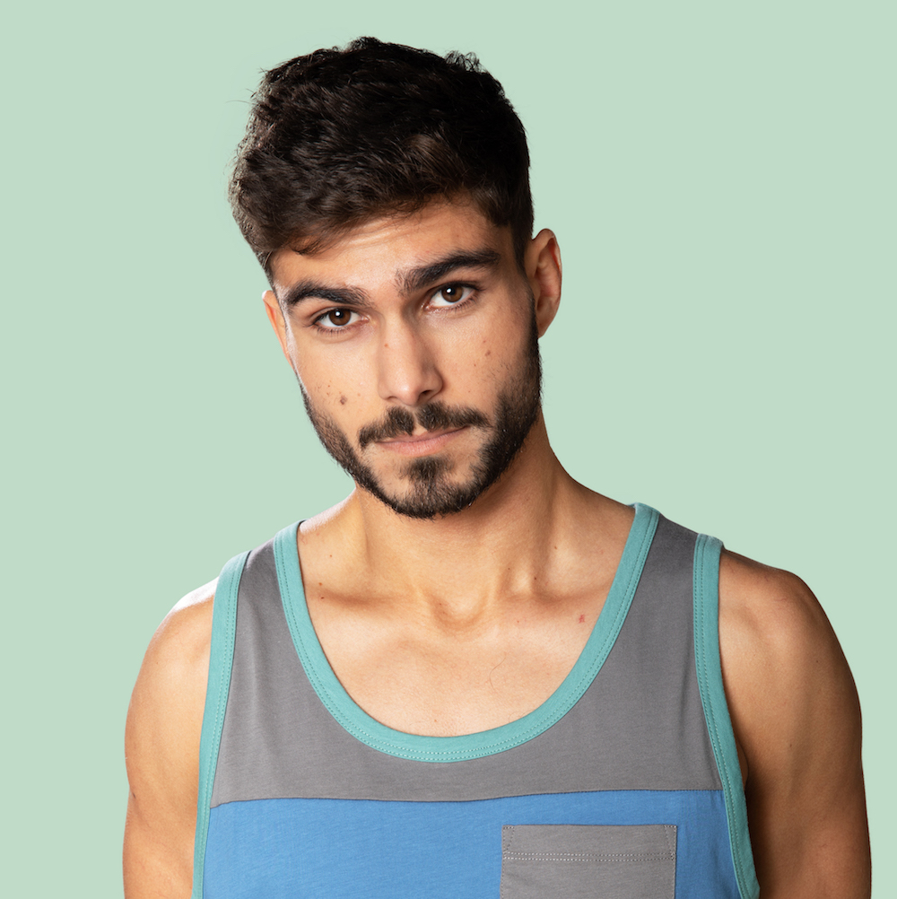 two colored tank top