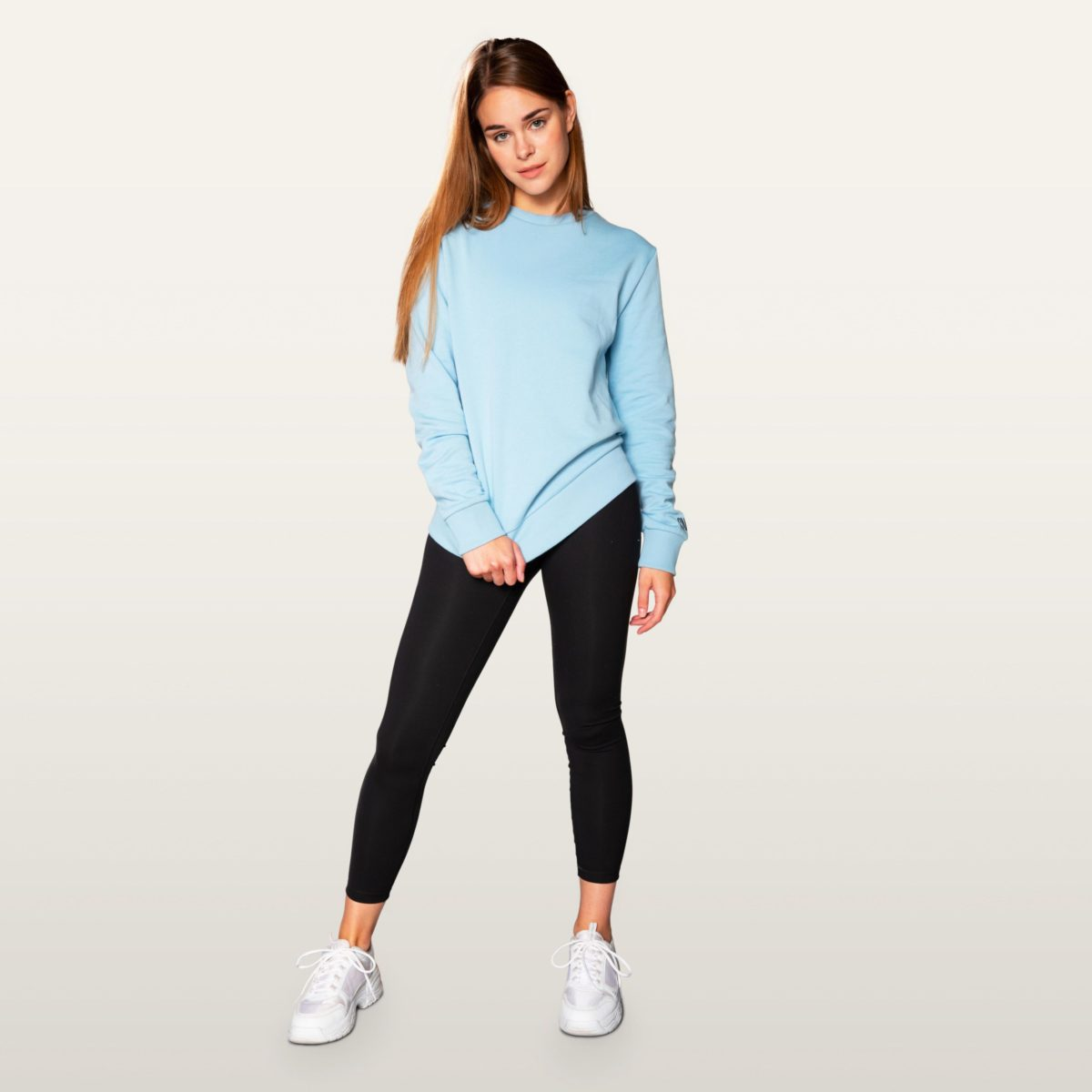 light blue sweater snap climbing men and women