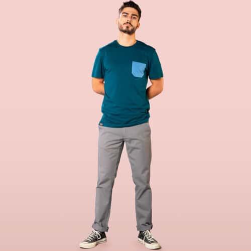 monochrome pocket dark blue Tshirt