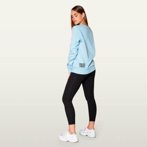 light blue classic sweater side