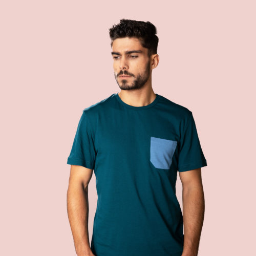 monochrome pocket T-shirt