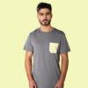 t-shirt gris coton bio homme