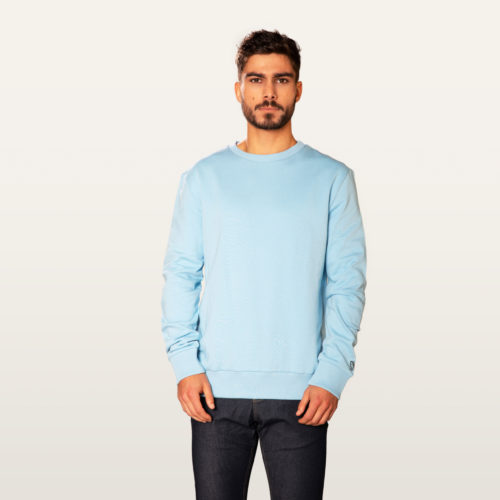 light blue sweater in natural fabrics men and women