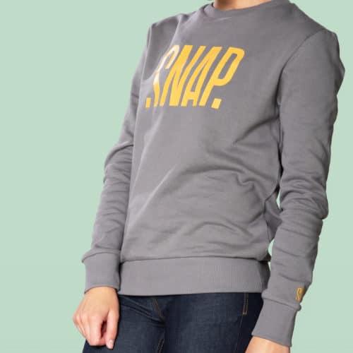 logo sweater mixt cut snap climbing