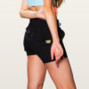 wave relaxed shorts for women black color