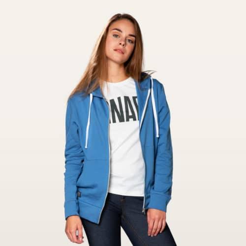 blue zip hoodie snap climbing