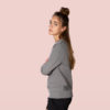 organic cotton grey sweater snap climbing side