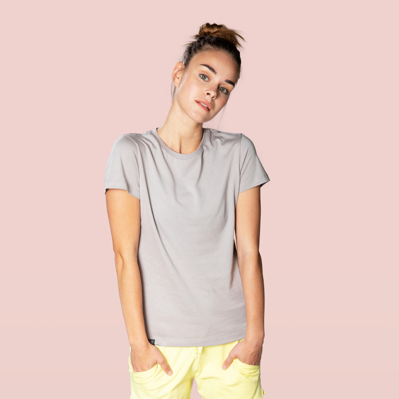 organic cotton t-shirt grey color