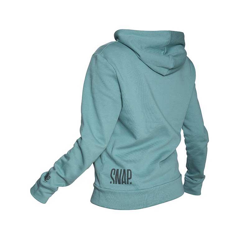green hoodie back