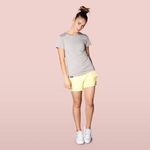 organic cotton and modal t-shirt for woman grey