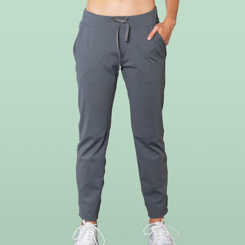 grey casual pants front