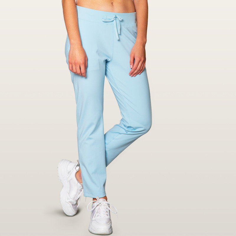 light blue pants for climbers