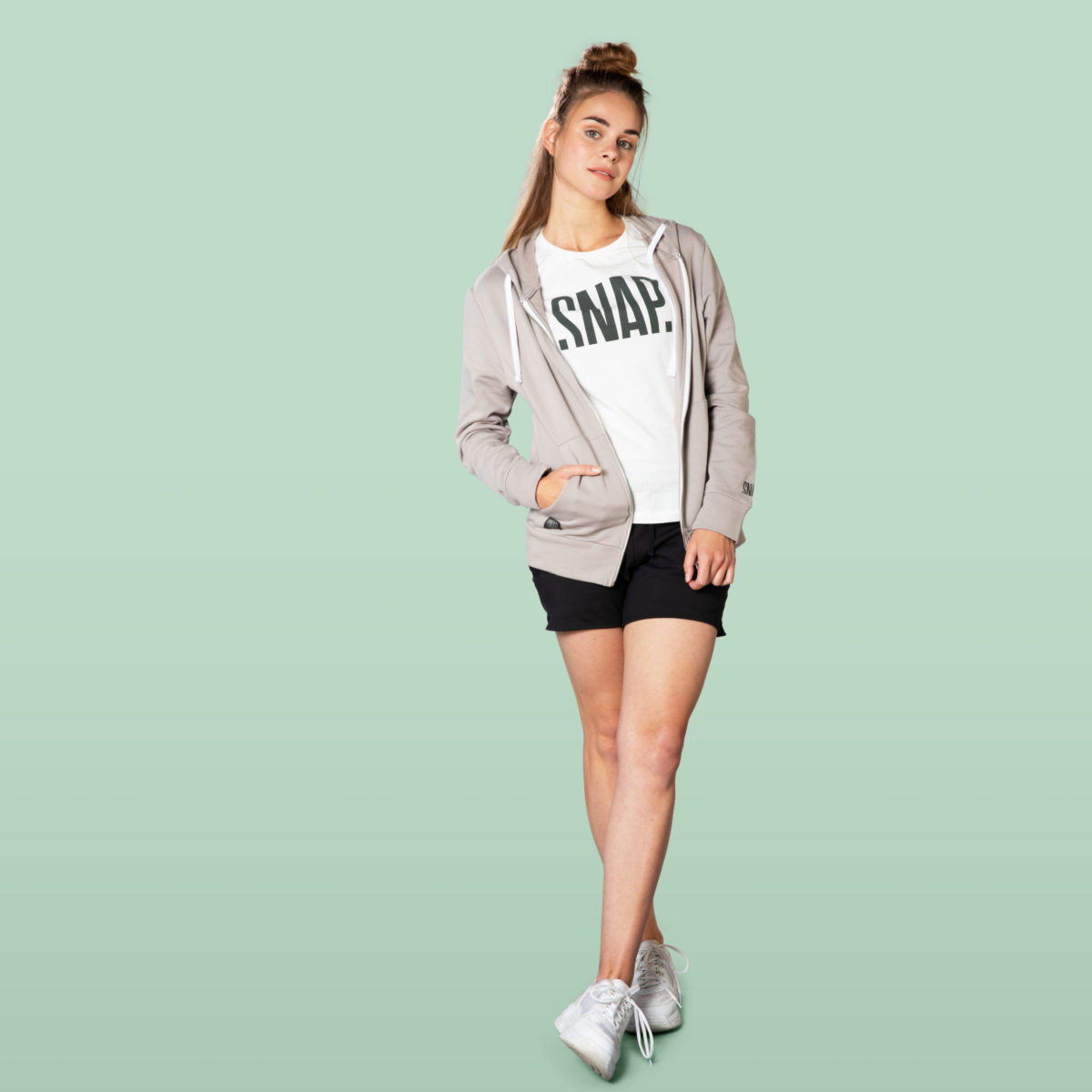 light grey sportswear hoodie