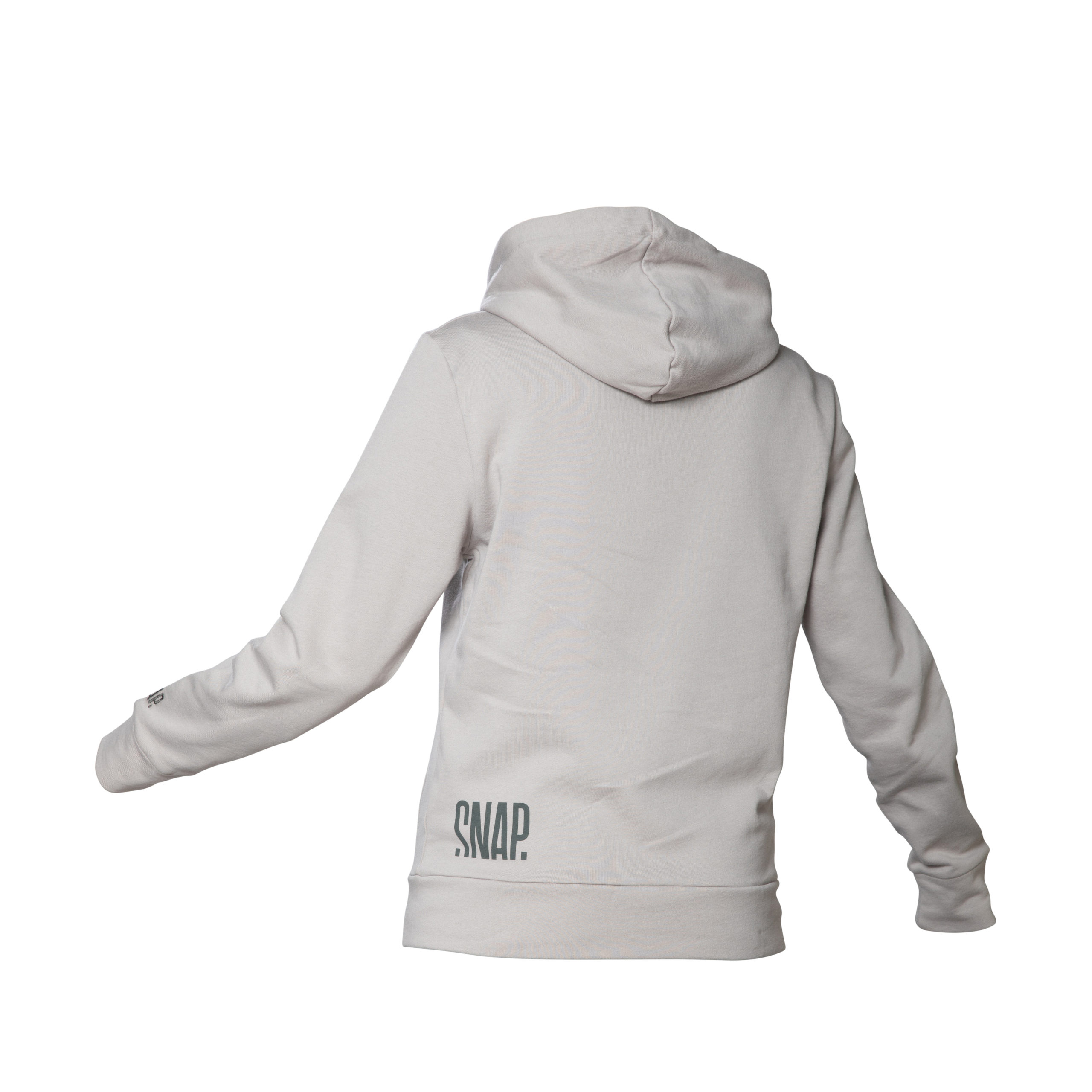 light grey zip hoodie back