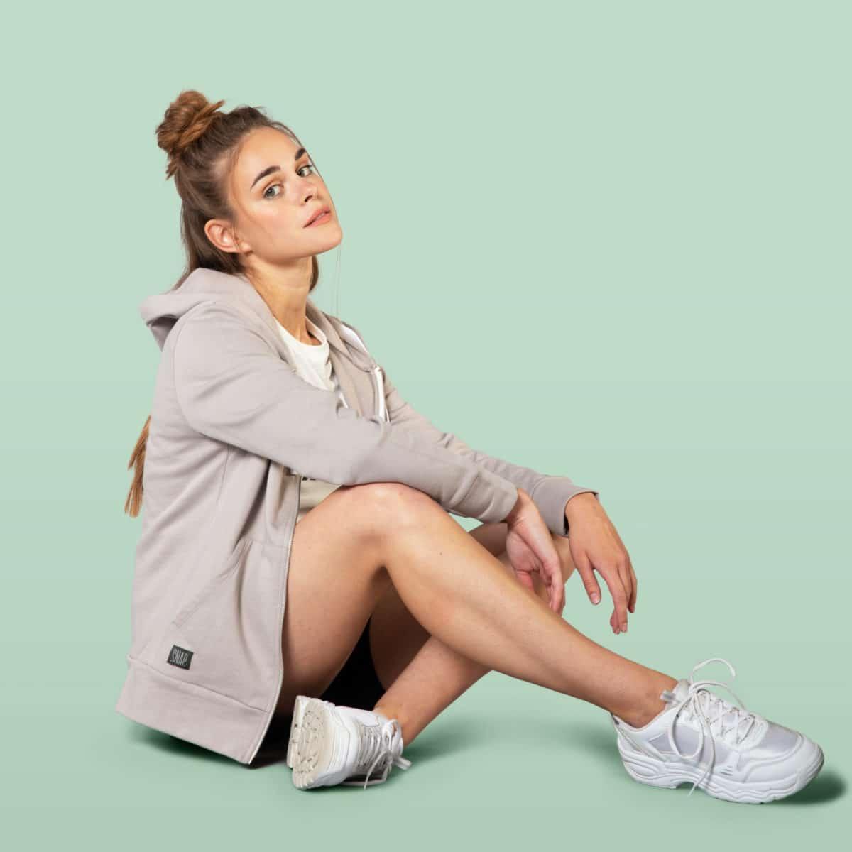 light grey casual hoodie