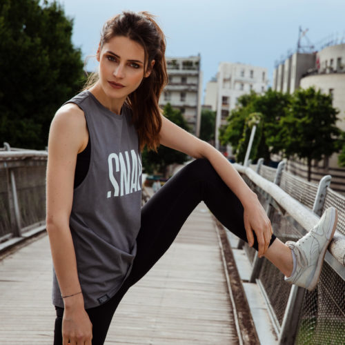 loose logo tank top snap climbing