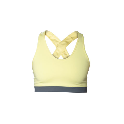 yellow crossed bra front
