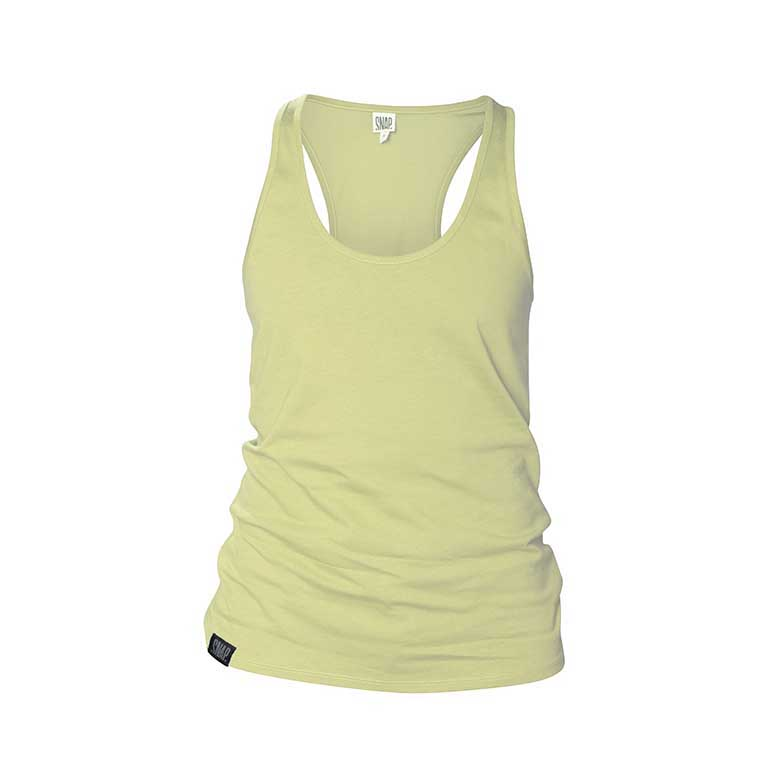 yellow fit tank top snap climbing