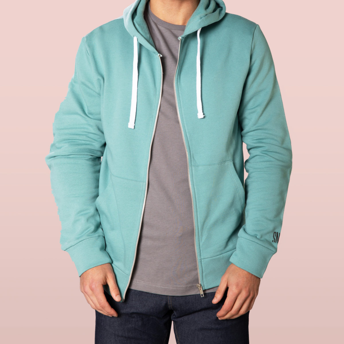 green hoodie for man