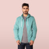 green hoody for men and women front