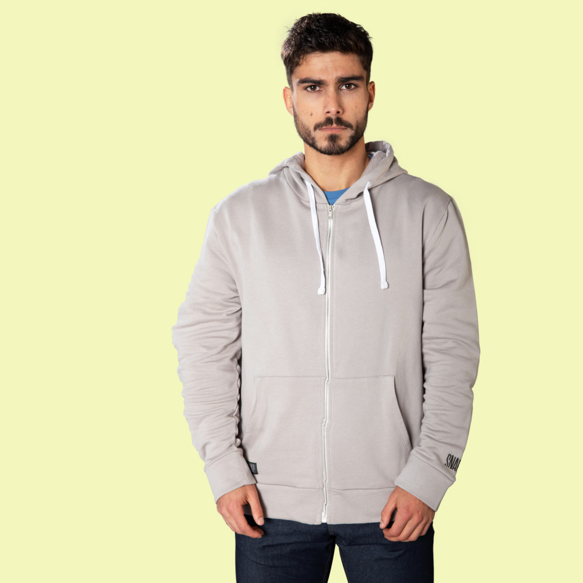 light grey hoody for men and women front