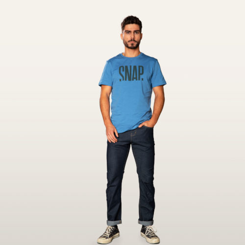 steel blue organic T-shirt man