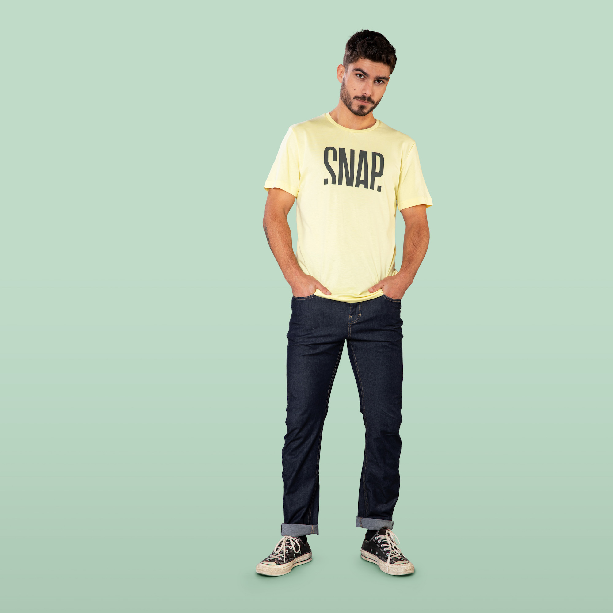 yellow T-shirt for man front