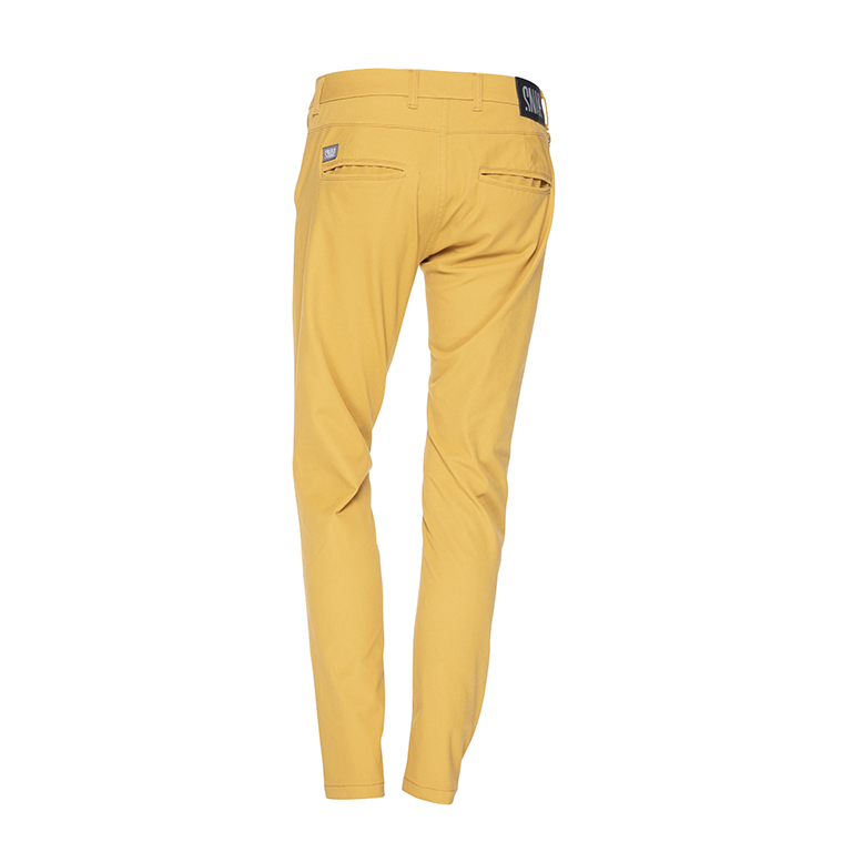chino pants mustard color, back view