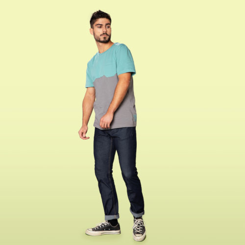 slim jeans for man in organic cotton