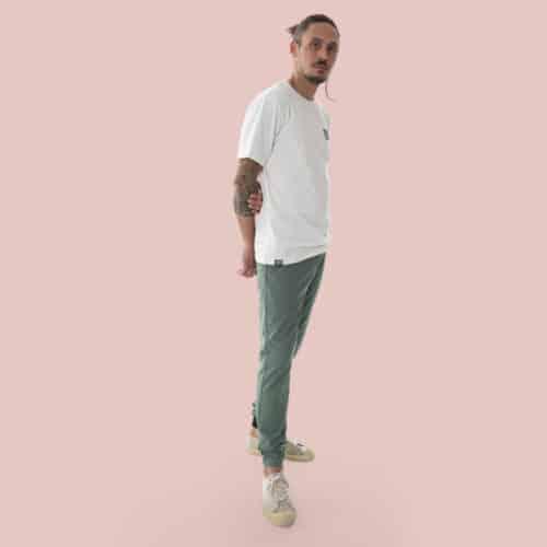 eco-friendly white T-shirt for man