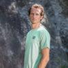 hemp t-shirt for man light green